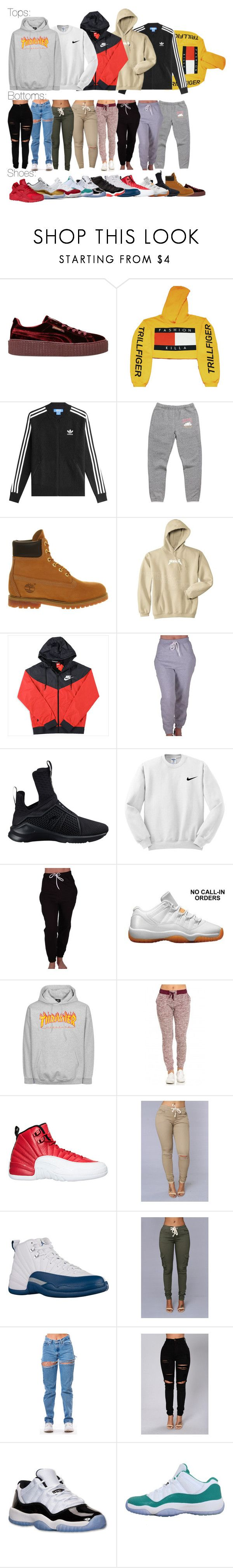 """Stuff I want"" by msixo ❤ liked on Polyvore featuring Puma, adidas Originals, Timberland, NIKE, CO and Retrò"