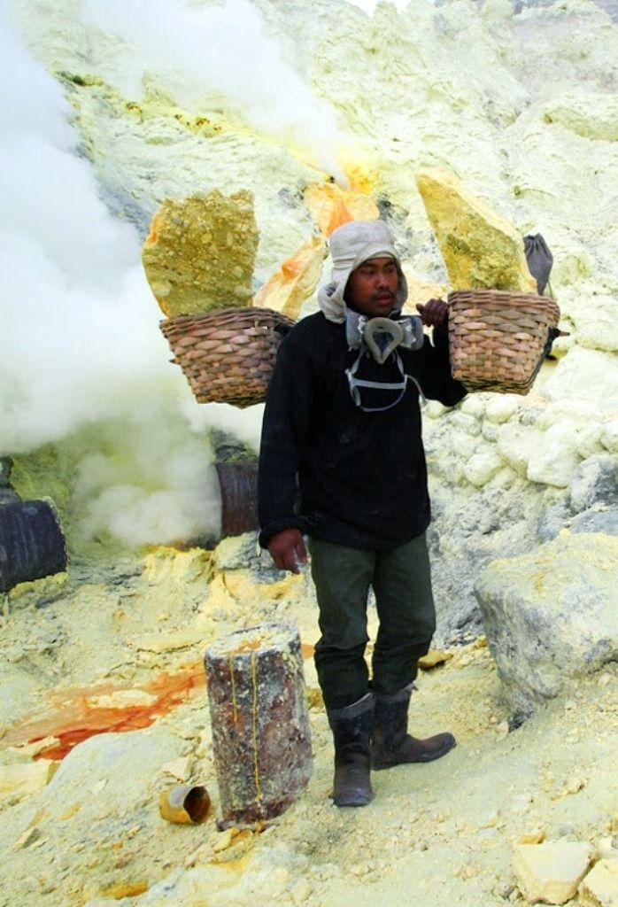 Kawah Ijen Sulphur Crater, Indonesia