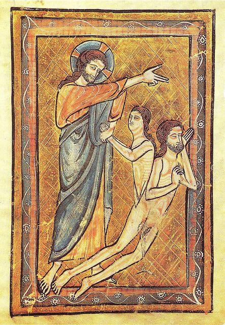 Creation of Eve, English School, XIII century, Musee Marmotten, Paris, France