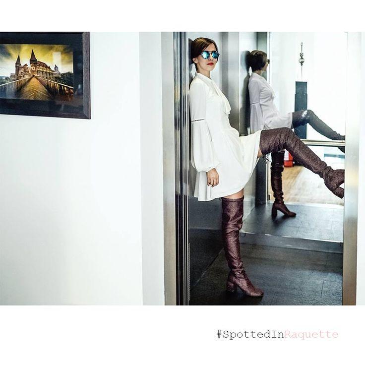 #SpottedInRaquette we love this super fancy girl   Dana Rogoz   wearing Raquette <3  more photos: http://www.danarogoz.com/trecut/  //dress available at//