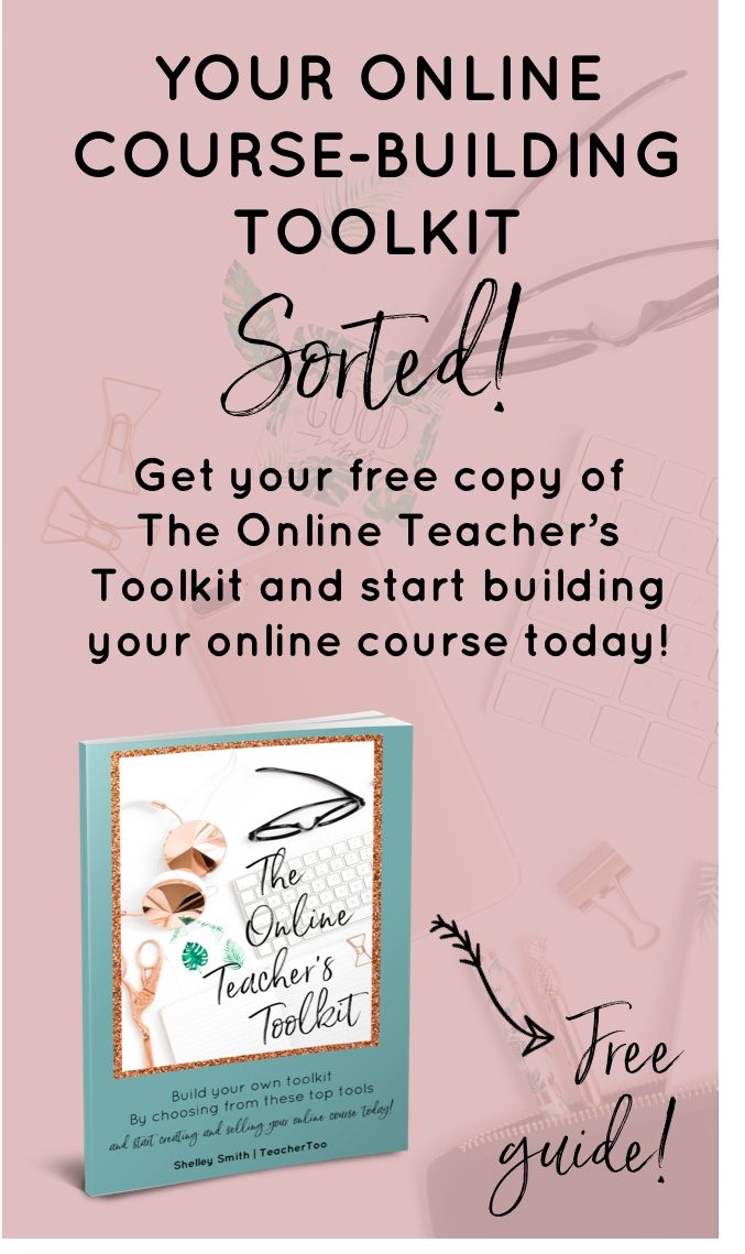 Overwhelmed by all the tools out there to create your online course? Download my online Teacher's Toolkit for FREE to discover some of the best tools and my fave's! | Online Teaching | Online Course Creation | Online Teachers | Online Course Tools
