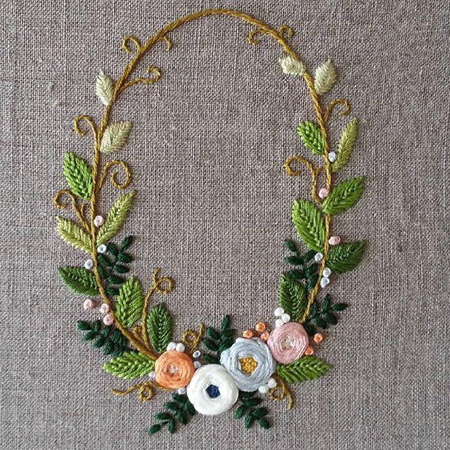 #stitch #embroidery #프랑스자수#스티치도안작업#리스