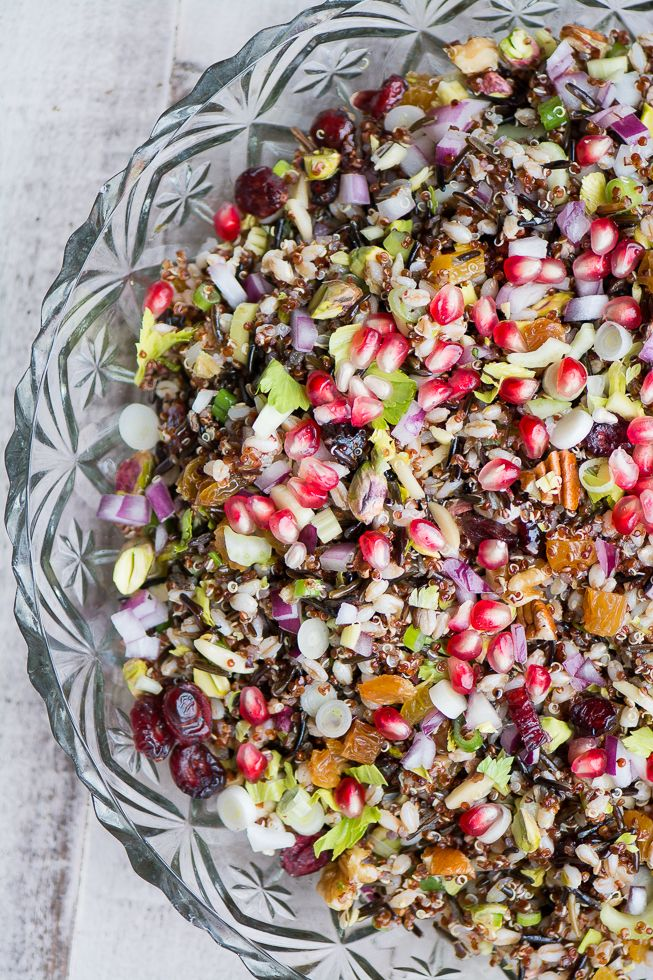 Vegan Ancient Grain Salad is perfect for the holidays and beyond! ~ theviewfromgreatisland.com