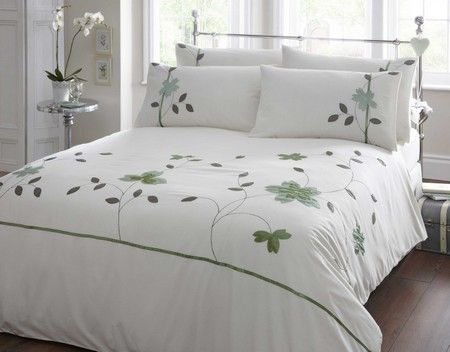 Elegant Butterfly Bedding Cream Duvet Cover Cream Bed