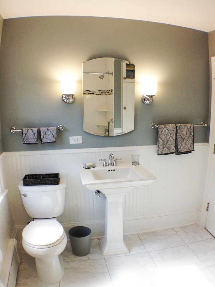 Replacing A Pedestal Sink With A Vanity : ... replace the bulky vanity, a pedestal sink was chosen. The overall