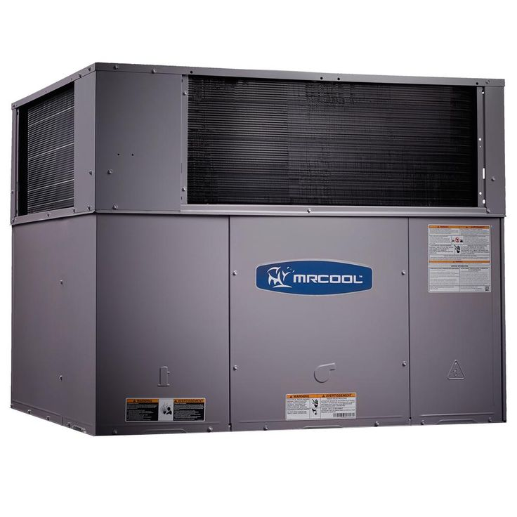 4 Ton 14 Seer R-410A 115,000 BTU Heat Horizontal or Down Flow Package A/C and Gas, Gray