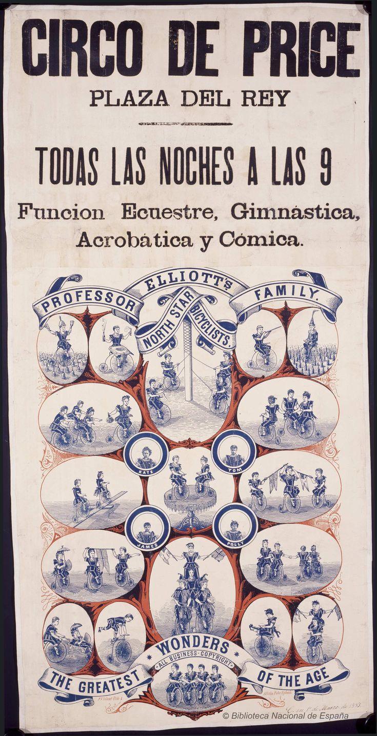 Funcion ecuestre, gimnástica, acrobática y cómica. Circo Price — Dibujos, grabados y fotografías — 1883-1883?