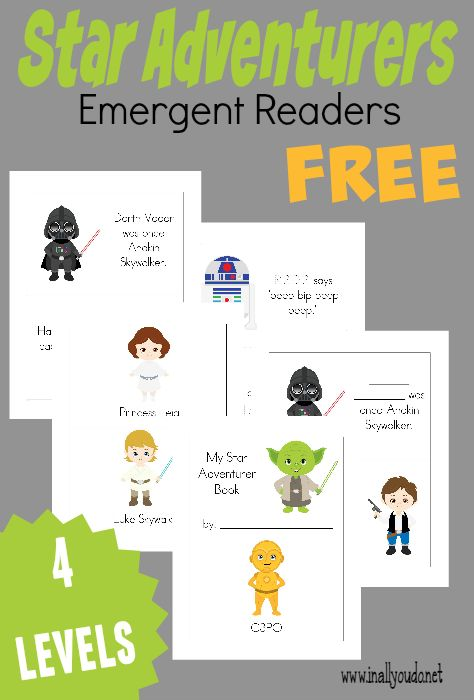 What boy doesn't love Star Wars? Grab these fun Star Adventurer Emergent Readers for some fun reading!! 4 levels :: www.inallyoudo.net