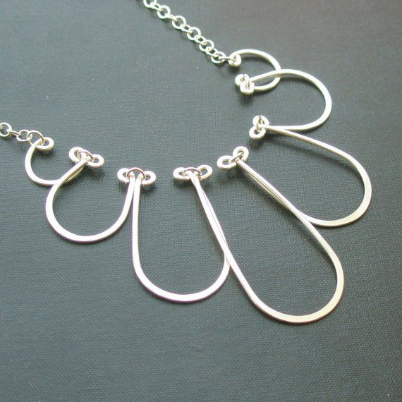 Falling Cloud Necklace  all sterling silver by PianoBenchDesigns