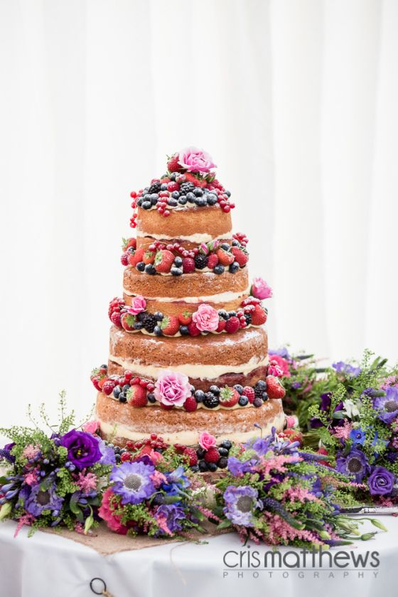 STUNNING Naked Wedding Cake