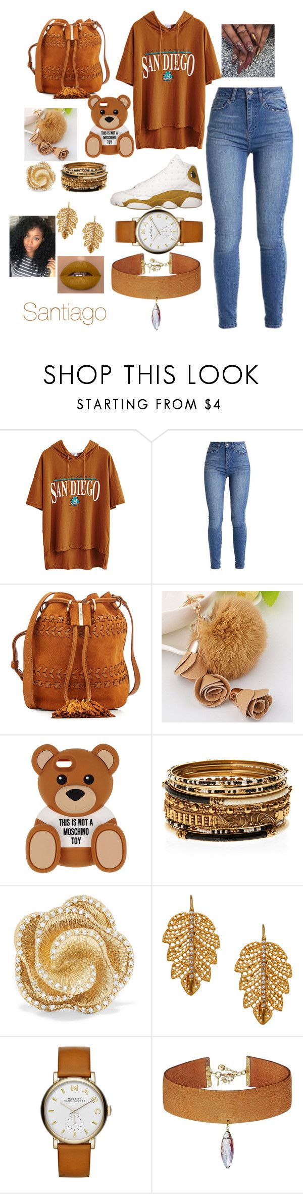 """Santiago here I come"" by trintrinforever27 ❤ liked on Polyvore featuring See by Chloé, Moschino, Amrita Singh, Effy Jewelry, Marika, Marc by Marc Jacobs and Vanessa Mooney"