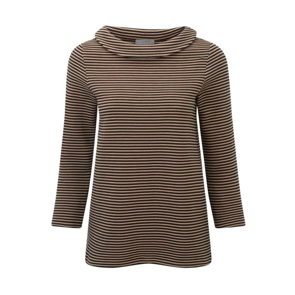 I have just purchased Stripe Bardot Top from Pure Collection - https://www.purecollection.com/clothing/womens-tops/stripe_bardot_top_1_black_camel.htm