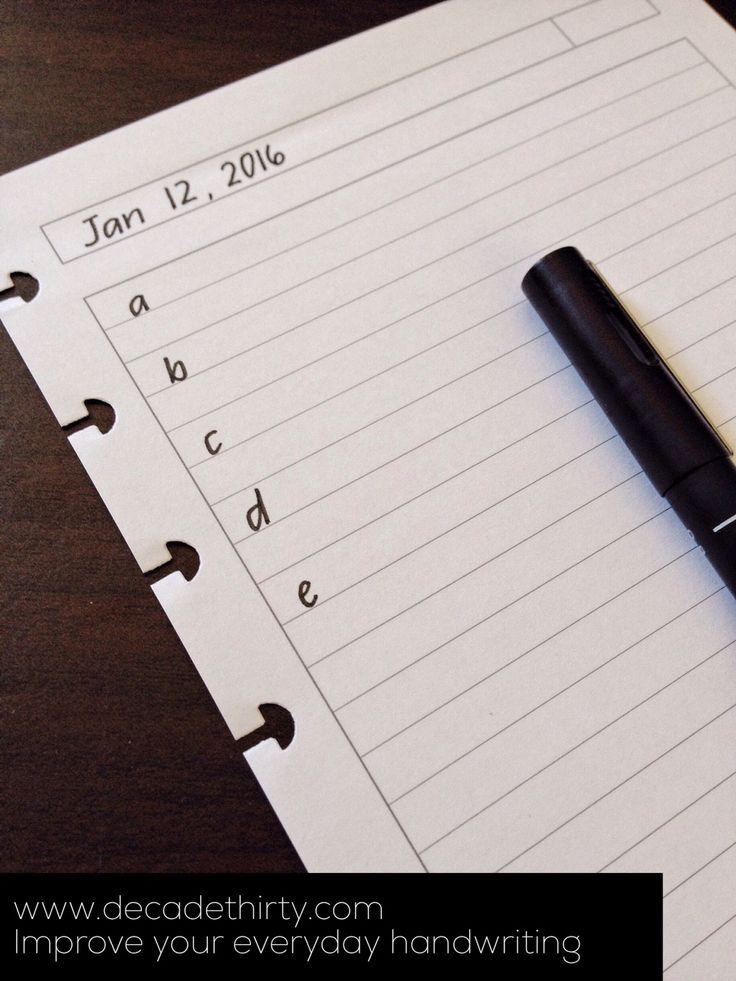 Improve your everyday handwriting | decade thirty