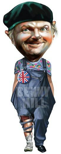 BENNY HILL caricature
