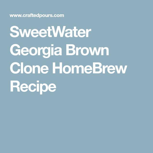 SweetWater Georgia Brown Clone HomeBrew Recipe