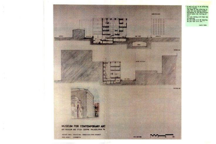 SITE SECTIONS DRAWING 1984