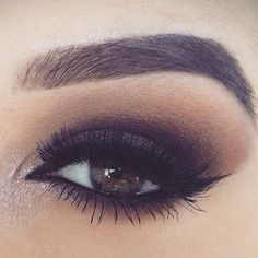When creating a smokey eye you want to actually keep the dark colors in your crease and on your lid. Tan/medium tones should be placed above those and blended out. The light color goes in your inner corner for a pop of color.