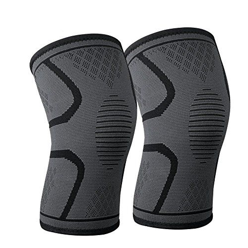 littlejian Compression Knee Sleeve,Best Knee Brace Support for Sports,Running,Jogging,Basketball,Joint Pain Relief,Arthritis and Injury Recovery&More,Men and Women (2 Piece-Medium) - littlejian Sports Elastic Knee Compression Sleeve Support with a high stretch capability, offering all around superior protection for your knee. Multi-Purpose:running, basketball, soccer, football, golf, cycling, tennis, hiking, volleyball, skiing and much more.Key Features: --Optimal compression...