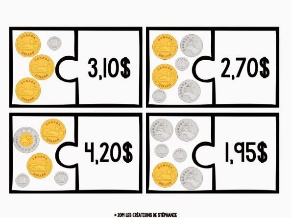 Les créations de Stéphanie: Casse-têtes - La monnaie canadienne
