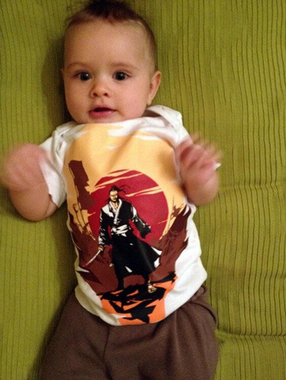 SamuraiTee (SamuraiTee) on Twitter    A little Samurai Tytus from London - thanks for the pic :)