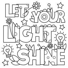Download or Print the Free Let Your Light Shine Coloring