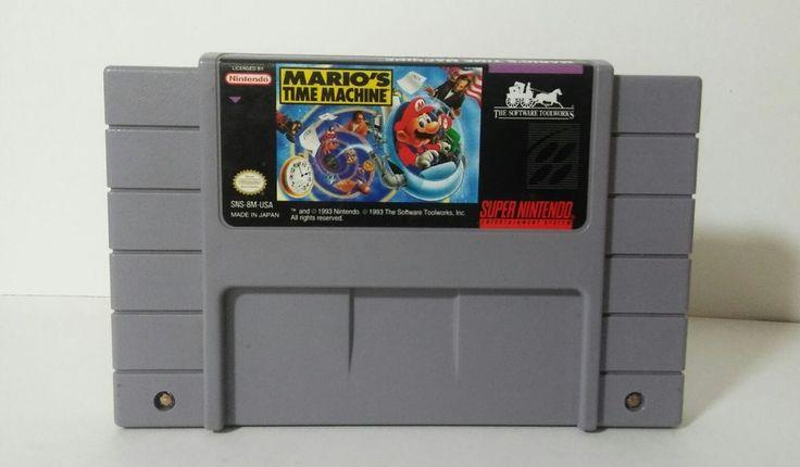 Mario's Time Machine Super Nintendo SNES (1993) Video Game Cartridge