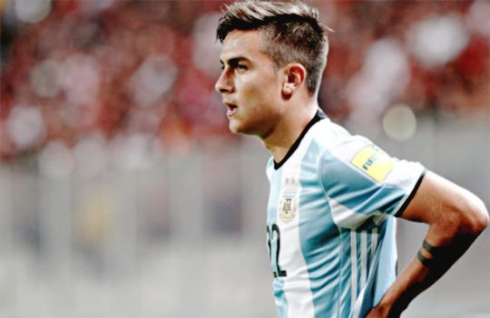 Paulo Dybala in a Russia 2018 World Cup qualifying match with Argentina National Team.