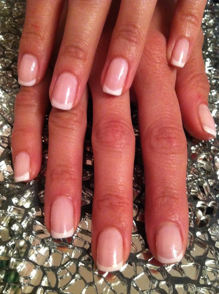 french shellac gel manicure.                Nails by Patty@salonbluespa190