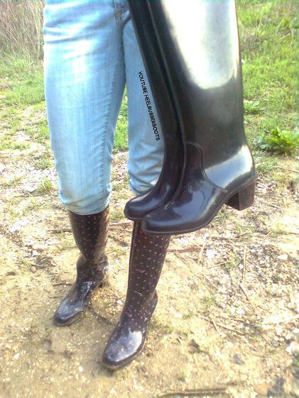sexy heeled  china girls rain boots pvc boots rubber ankle boot sexy wedge heels gummi regen stiefel latex black sbr bottes de pluie | par heelrubberboots