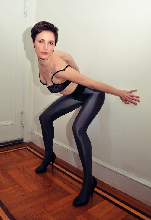 Nylon collants sexe libre