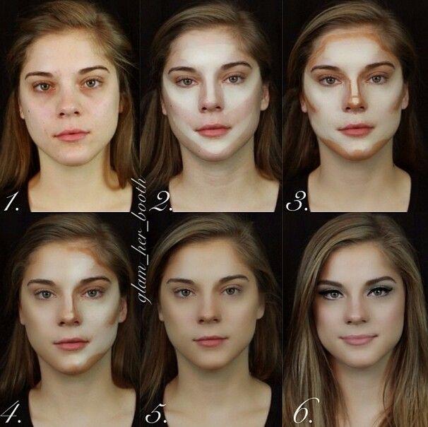 Delineado y contorneo de cara para estilizacion de cara y hacer la cara mas delgada