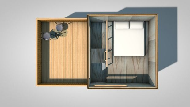 The top floor will feature a master bedroom and roof deck.