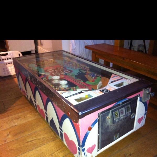 pinball machine coffee table for sale