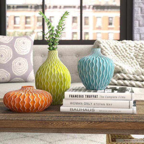 maximillian 3 piece table vase set