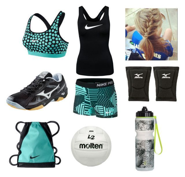 """""""Volleyball Practice Outfit"""" by thatgeekgirl13 on Polyvore featuring NIKE, Mizuno, KENZI and H&M"""