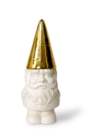 Gold topped Gnome - cookie jar! WANT