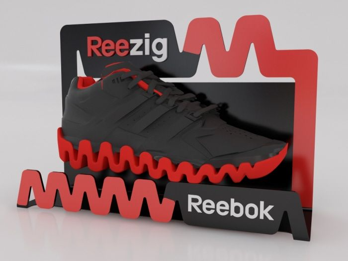 Reebok Reezig displays by Ricardo García at Coroflot.com