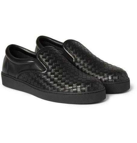 Bottega VenetaIntrecciato Leather Slip-On Sneakers