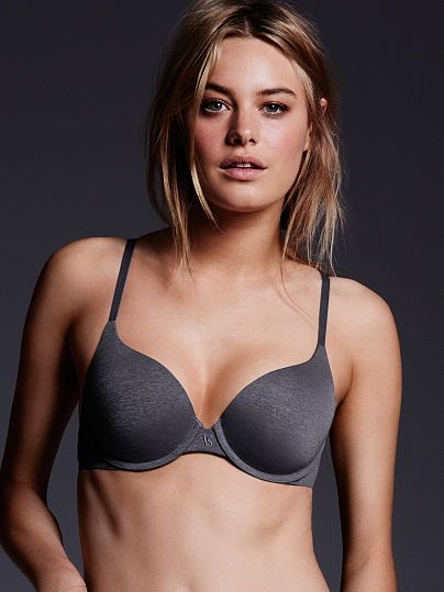 Worn by : Angel Camille Rowe  Type : The TShirt Perfect Shape Bra  Color : Black Pearl Marl