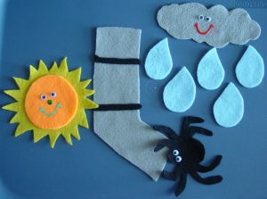 Felt board Itsy Bitsy. I used to make these when I worked in child care!
