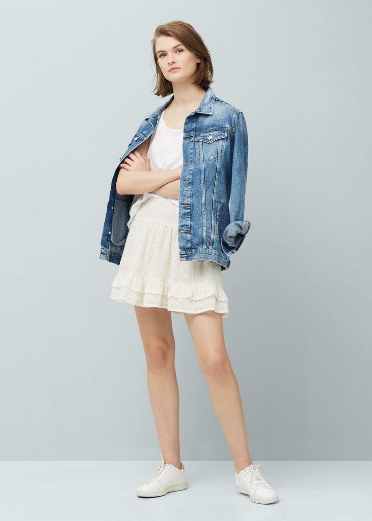 Falda cintura fruncida | MANGO