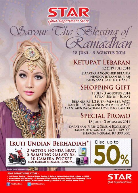 Star Department Store: Special Promo Discount up to 50% @STARdeptstore