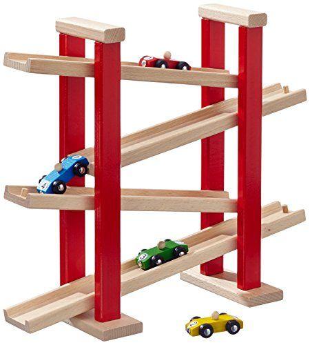 HEROS 100027332 - Circuito de madera para coches de juguete (37 x 12,5 x 31,5 cm)