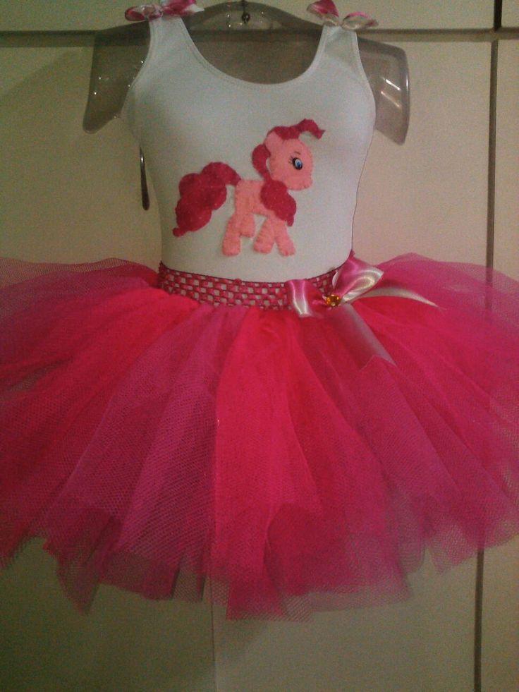 Fantasia Pink pie my little pony. | ATELIER VOVO TEM ARTE | Elo7