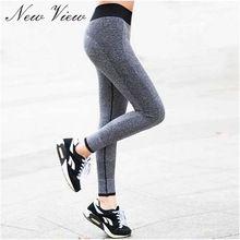 2016 nové módní Sexy vysokým pasem Reprodukce oblečení Spandex rychleschnoucí Dámské legíny Fitness Active Pants (Čína (pevninská část))
