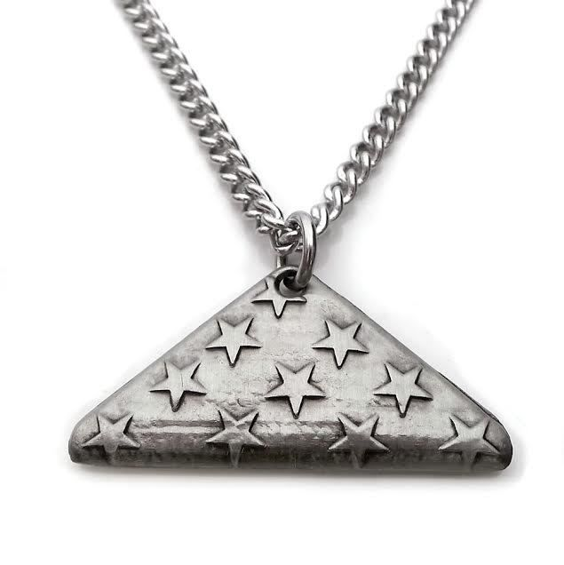Shields of Strength - Mens Folded Flag Antique Finish Necklace-John 15:13, $29.99 (http://www.shieldsofstrength.com/mens-folded-flag-antique-finish-necklace-john-15-13/)