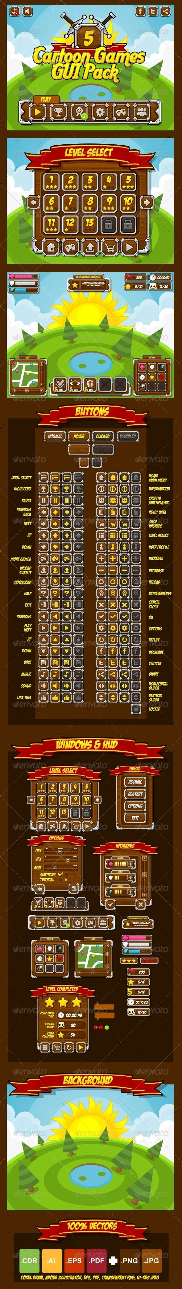 Cartoon-Games-GUI-Pack-5