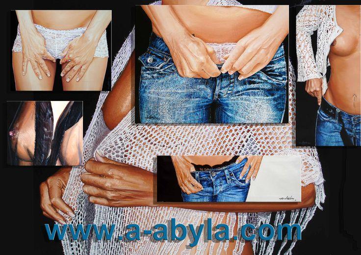 Hyperréalisme acrylique sur toile www.a-abyla.com