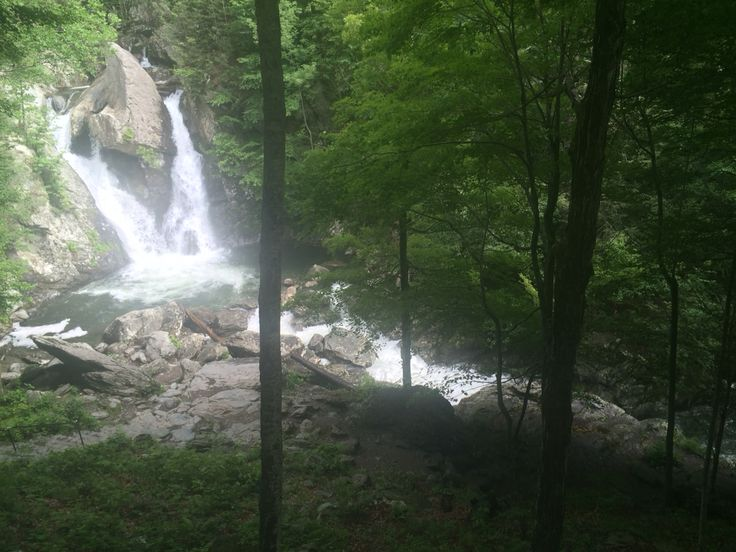 Bash Bish Falls can be reached from the trailhead in Taconic State Park on the eastern side of Columbia County New York.
