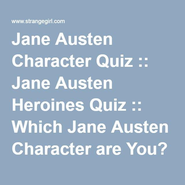 Jane Austen Character Quiz :: Jane Austen Heroines Quiz :: Which Jane Austen Character are You? :: Emma Adaptations Pages :: Jane Austen's Emma :: Emma Jane Austen Emma Movie Emma